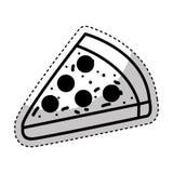 Απομονωμένο μερίδα εικονίδιο πιτσών ελεύθερη απεικόνιση δικαιώματος