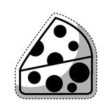Απομονωμένο μερίδα εικονίδιο τυριών ελεύθερη απεικόνιση δικαιώματος