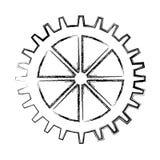 Απομονωμένο μηχανή εικονίδιο εργαλείων διανυσματική απεικόνιση