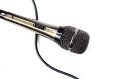 απομονωμένο μικρόφωνο Στοκ Φωτογραφία