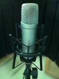 απομονωμένο μικρόφωνο Στοκ Φωτογραφίες