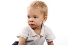 απομονωμένο μικρό παιδί Στοκ Φωτογραφίες