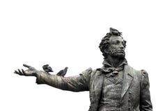 Απομονωμένο μνημείο στον ποιητή Αλέξανδρος Pushkin σπουδαίου Ρώσου Στοκ Φωτογραφία