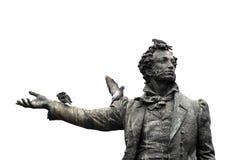 Απομονωμένο μνημείο στον ποιητή Αλέξανδρος Pushkin σπουδαίου Ρώσου Στοκ φωτογραφίες με δικαίωμα ελεύθερης χρήσης