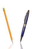 απομονωμένο μολύβι πεννών Στοκ εικόνα με δικαίωμα ελεύθερης χρήσης
