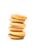 απομονωμένο μπισκότο υπόβαθρο Στοκ φωτογραφία με δικαίωμα ελεύθερης χρήσης