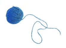 απομονωμένο μπλε νήμα σφα&iota στοκ εικόνα