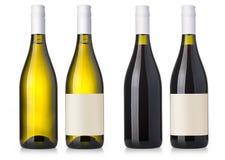 απομονωμένο μπουκάλι κρασί Στοκ φωτογραφία με δικαίωμα ελεύθερης χρήσης