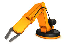 απομονωμένο νέο ρομπότ Στοκ Φωτογραφίες