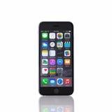 Απομονωμένο νέο iPhone 6 διαστημικός γκρίζος Στοκ εικόνες με δικαίωμα ελεύθερης χρήσης