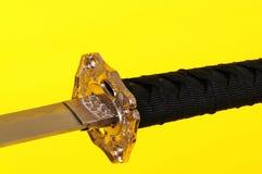 απομονωμένο ξίφος Σαμουράι Στοκ εικόνα με δικαίωμα ελεύθερης χρήσης
