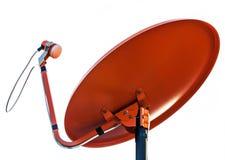 απομονωμένο δορυφορικό απεικόνιση διανυσματικό λευκό πιάτων Στοκ Εικόνες
