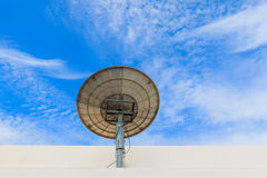 απομονωμένο δορυφορικό απεικόνιση διανυσματικό λευκό πιάτων Στοκ εικόνα με δικαίωμα ελεύθερης χρήσης