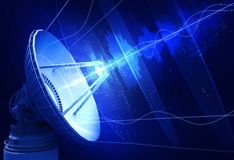 απομονωμένο δορυφορικό απεικόνιση διανυσματικό λευκό πιάτων απεικόνιση αποθεμάτων