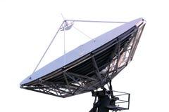 απομονωμένο δορυφορικό απεικόνιση διανυσματικό λευκό πιάτων Στοκ Εικόνα