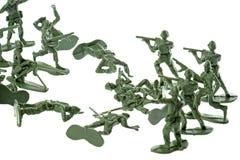 απομονωμένο παιχνίδι στρατιωτών στοκ εικόνες