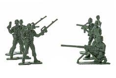 απομονωμένο παιχνίδι στρατιωτών Στοκ Εικόνα