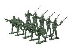 απομονωμένο παιχνίδι στρατιωτών Στοκ Φωτογραφίες