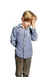 Απομονωμένο παιδί που ανατρέπεται Στοκ Εικόνες
