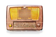 απομονωμένο παλαιό ραδιόφ&o Στοκ φωτογραφίες με δικαίωμα ελεύθερης χρήσης