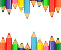 απομονωμένο πλαίσιο μολύβι χρώματος Στοκ Εικόνες