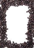Απομονωμένο πλαίσιο φασολιών καφέ στοκ εικόνα