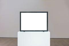 Απομονωμένο πορεία άσπρο διάνυσμα ψαλιδίσματος τοίχων πλαισίων μουσείων σύγχρονης τέχνης Στοκ εικόνα με δικαίωμα ελεύθερης χρήσης