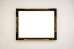 Απομονωμένο πορεία άσπρο διάνυσμα ψαλιδίσματος τοίχων πλαισίων μουσείων σύγχρονης τέχνης Στοκ Εικόνες