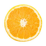 απομονωμένο πορτοκαλί λευκό φετών Στοκ Εικόνα