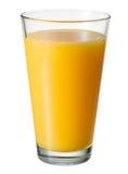απομονωμένο πορτοκαλί λευκό χυμού Γυαλί που απομονώνεται Με το ψαλίδισμα του μονοπατιού Στοκ εικόνες με δικαίωμα ελεύθερης χρήσης
