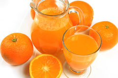 απομονωμένο πορτοκαλί λευκό χυμού Στοκ Εικόνα