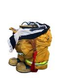 απομονωμένο πυρκαγιά άτομο μποτών Στοκ φωτογραφία με δικαίωμα ελεύθερης χρήσης