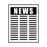 Απομονωμένο πληροφορίες εικονίδιο εγγράφου ειδήσεων απεικόνιση αποθεμάτων