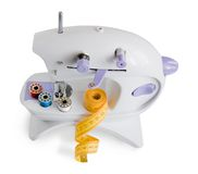απομονωμένο ράψιμο μηχανών στοκ εικόνα με δικαίωμα ελεύθερης χρήσης