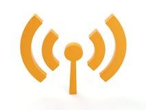 απομονωμένο ραδιόφωνο WI FI εικονίδιο Στοκ εικόνες με δικαίωμα ελεύθερης χρήσης