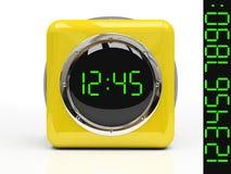 απομονωμένο ρολόι κίτρινο Στοκ φωτογραφίες με δικαίωμα ελεύθερης χρήσης