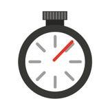 Απομονωμένο ρολόι εικονίδιο χρονομέτρων Στοκ φωτογραφία με δικαίωμα ελεύθερης χρήσης