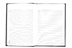 απομονωμένο σημειωματάρι& Στοκ φωτογραφία με δικαίωμα ελεύθερης χρήσης