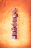 απομονωμένο σοκολάτα λευκό τρουφών Στοκ Φωτογραφίες