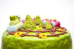 Απομονωμένο σπιτικό κέικ Στοκ εικόνα με δικαίωμα ελεύθερης χρήσης
