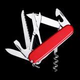 απομονωμένο στρατός μαχαίρι Ελβετός Στοκ Φωτογραφία