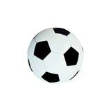 απομονωμένο σφαίρα λευκό ποδοσφαίρου δέρματος Στοκ Φωτογραφία