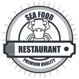 Απομονωμένο σχέδιο εικονιδίων θαλασσινών εστιατορίων λιχουδιές απεικόνιση αποθεμάτων