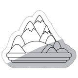 Απομονωμένο σχέδιο βουνών Στοκ Εικόνα