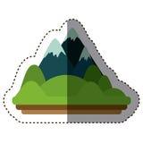 Απομονωμένο σχέδιο βουνών Στοκ Εικόνες