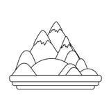 Απομονωμένο σχέδιο βουνών Στοκ φωτογραφία με δικαίωμα ελεύθερης χρήσης