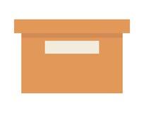 απομονωμένο σχέδιο εικονιδίων γραφείων κιβώτιο Στοκ εικόνα με δικαίωμα ελεύθερης χρήσης