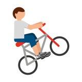 απομονωμένο σχέδιο εικονιδίων ποδηλάτων άκρο Στοκ Φωτογραφίες