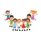 Απομονωμένο σχέδιο κινούμενων σχεδίων παιδιών Στοκ εικόνα με δικαίωμα ελεύθερης χρήσης