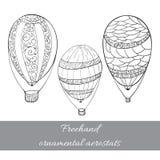 Απομονωμένο σύνολο αερόστατων Στοκ φωτογραφίες με δικαίωμα ελεύθερης χρήσης
